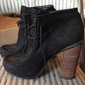 Black Suede Heels women's size 7